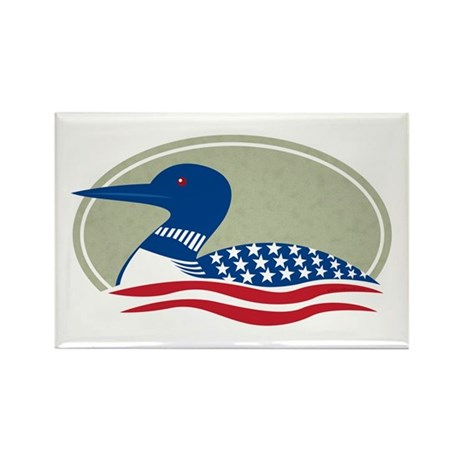 Proud Loon Oval: Rectangle Magnet (10 pack)