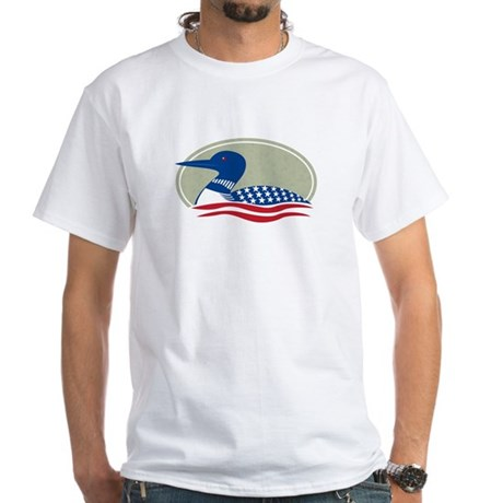 Proud Loon Oval: White T-Shirt