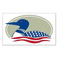 Proud Loon Oval: Rectangle Decal