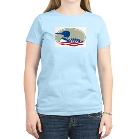 Proud Loon Oval: Women's Pink T-Shirt