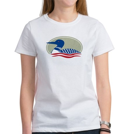 Proud Loon Oval: Women's T-Shirt