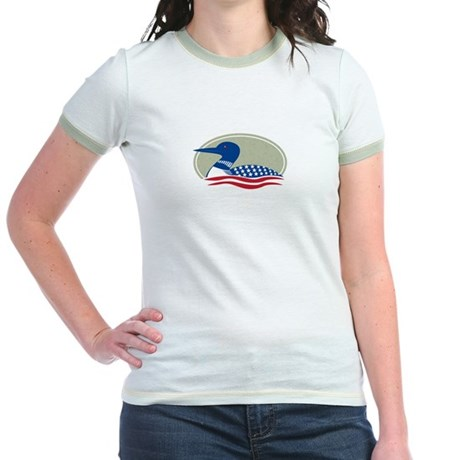 Proud Loon Oval: Jr. Ringer T-Shirt