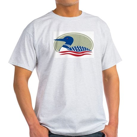 Proud Loon Oval: Ash Grey T-Shirt