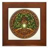 Sacred Celtic Trees - Oak Framed Tile