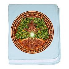 Sacred Celtic Trees - Oak baby blanket