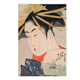 Utamaro - Fan Postcards (Package of 8)