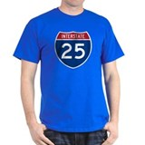 I-25 Highway Black T-Shirt