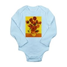 Van Gogh 15 Sunflowers (High Res) Long Sleeve Infa