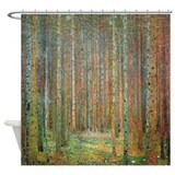Gustav Klimt Pine Forest Shower Curtain