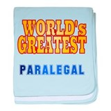 World's Greatest Paralegal baby blanket