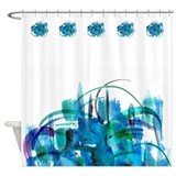 Atom Sea #19 Shower Curtain