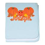 Halloween Pumpkin Joseph baby blanket