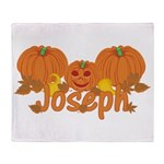Halloween Pumpkin Joseph Throw Blanket