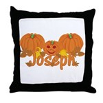 Halloween Pumpkin Joseph Throw Pillow