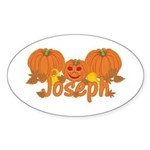 Halloween Pumpkin Joseph Sticker (Oval)
