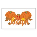 Halloween Pumpkin Joseph Sticker (Rectangle)