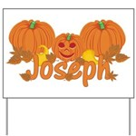 Halloween Pumpkin Joseph Yard Sign