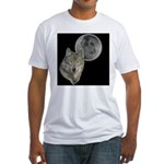 Wolf head Moon Fitted T-Shirt