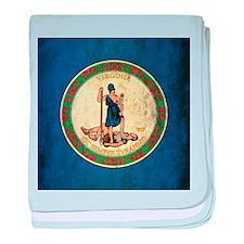Grunge Virginia Flag baby blanket