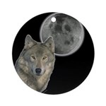 Wolf head Moon Ornament (Round)