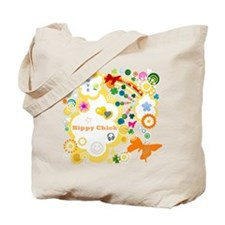 Vintage Chick Hippy Chick Tote Bag