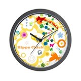 Vintage Chick Hippy Chick Wall Clock