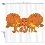 Halloween Pumpkin Kevin Shower Curtain