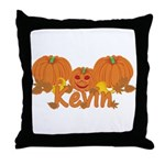 Halloween Pumpkin Kevin Throw Pillow