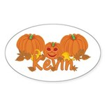 Halloween Pumpkin Kevin Sticker (Oval)