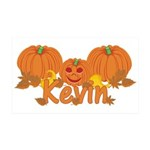 Halloween Pumpkin Kevin 35x21 Wall Decal