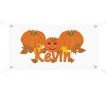Halloween Pumpkin Kevin Banner
