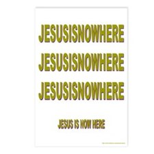 JESUSISNOWHERE Postcards (Package of 8)