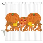 Halloween Pumpkin Lawrence Shower Curtain