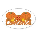 Halloween Pumpkin Lawrence Sticker (Oval)