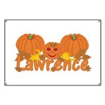 Halloween Pumpkin Lawrence Banner