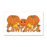 Halloween Pumpkin Lawrence Rectangle Car Magnet