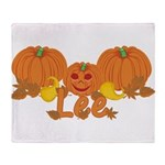 Halloween Pumpkin Lee Throw Blanket