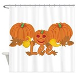 Halloween Pumpkin Lee Shower Curtain