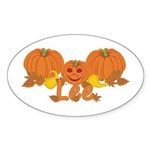Halloween Pumpkin Lee Sticker (Oval)