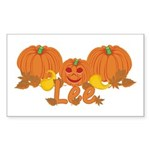Halloween Pumpkin Lee Sticker (Rectangle)