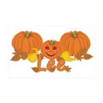 Halloween Pumpkin Lee 35x21 Wall Decal
