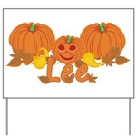 Halloween Pumpkin Lee Yard Sign