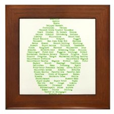 Hops of The World Framed Tile