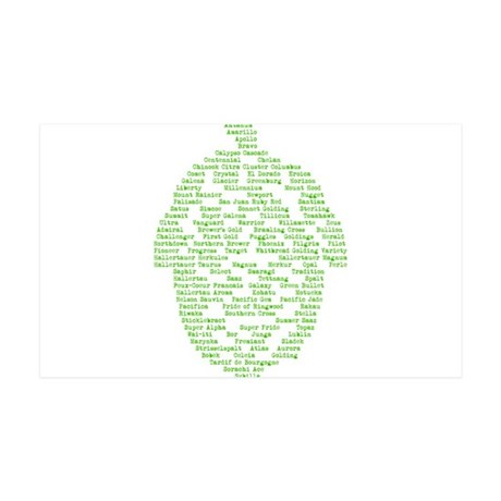 Hops of The World 35x21 Wall Decal