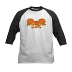 Halloween Pumpkin Levi Kids Baseball Jersey