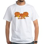 Halloween Pumpkin Levi White T-Shirt