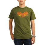 Halloween Pumpkin Levi Organic Men's T-Shirt (dark