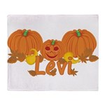 Halloween Pumpkin Levi Throw Blanket