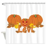 Halloween Pumpkin Levi Shower Curtain