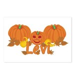 Halloween Pumpkin Levi Postcards (Package of 8)